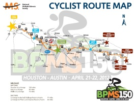 BP MS150 Route Map