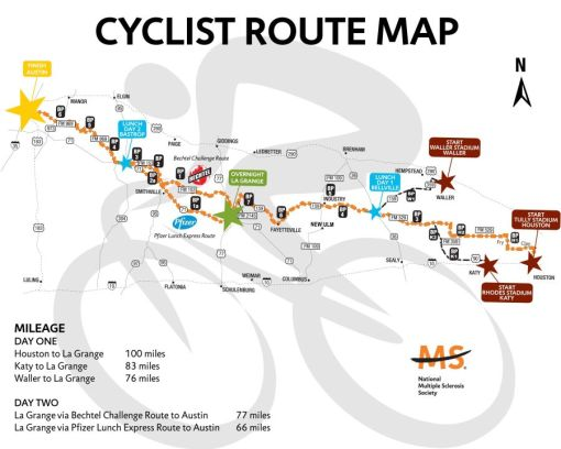 MS 150 route map